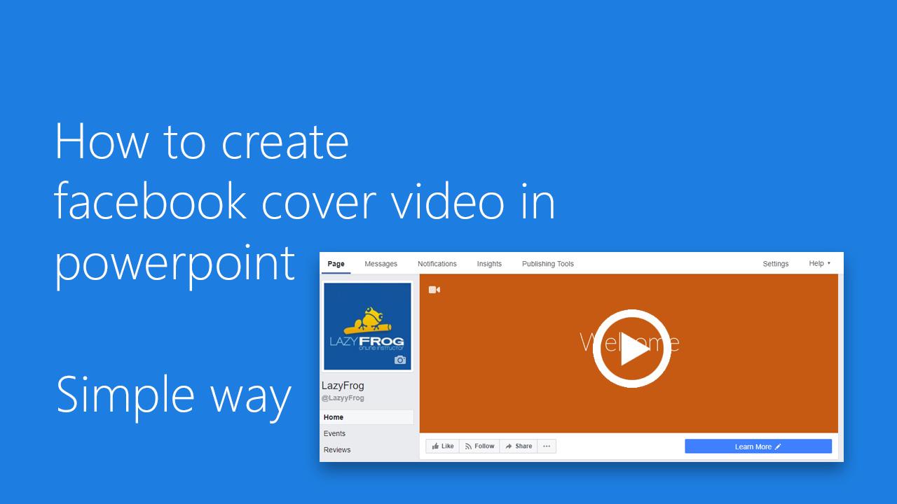 Facebook Cover video